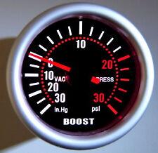 """2"""" Turbo Boost Gauge Meter Universal Smoke Tinted lens PSI"""