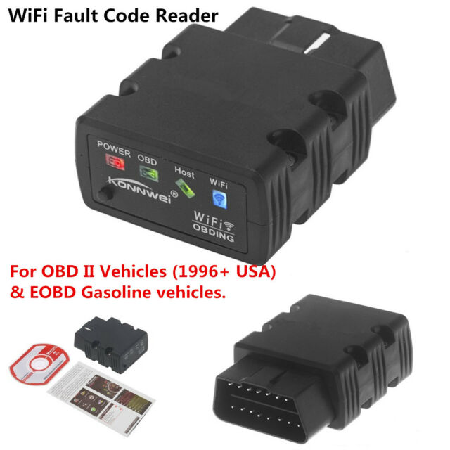 Konnwei ELM327 WiFi OBD2 OBDII Auto Car Diagnostic Scanner For iPhone Android