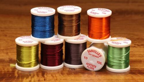 """Danville Acetate Soie/"""" 20 Bobine Set dans le bac /""""fly tying Crafts"""
