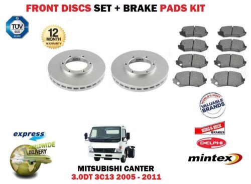 FOR MITSUBISHI CANTER 3.0DT 3C13 2005- FRONT BRAKE DISCS SET + DISC PADS KIT
