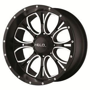 17 Inch Black Wheels Rims Jeep Wrangler Jk Helo He879 5 Lug 5x127
