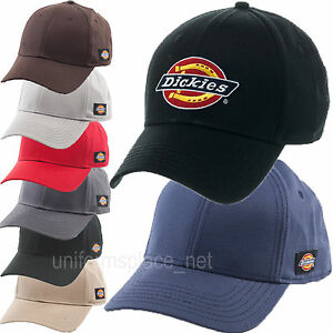 Details about Dickies Hats Mens Adjustable Fit Logo Baseball Cap Curved  Visor 6 Panels Hat fda6dd36ced