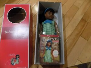 NEW-in-Box-American-Girl-18-034-MELODY-Doll-with-Book-Outfit-Dark-Skin-Black-Hair