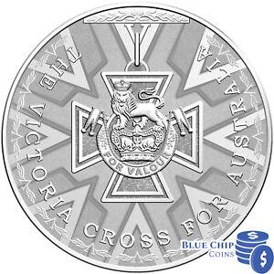$5 Fine Silver Frosted UNC Coin 2014 Australia The Victoria Cross for Valour