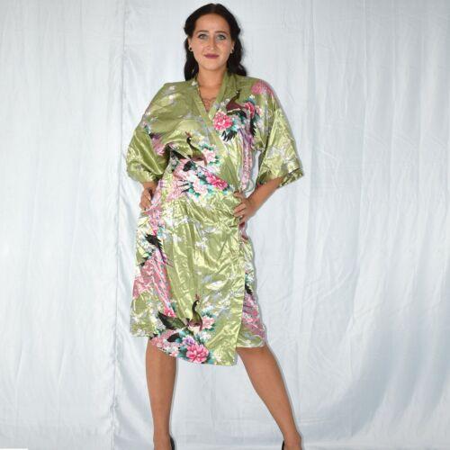 Paradiesischer Satin Dressing Gown L Negligee Robe