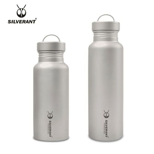 Pure Titanium Water Coffee Tea Bottles Flasks Portable Outdoor Camping Travel