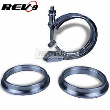 """2.5"""" V-BAND QUICK RELEASE UNIVERSAL CLAMP FLANGE TURBO DOWNPIPE STAINLESS STEEL"""