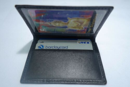 Cow Leather Wallet for 10 Cards and Extra Travel Pass Holder