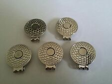 NEW 5 pcs OF GOLF MAGNETIC HAT CLIPS FOR GOLF BALL MARKER
