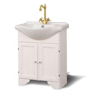 Mobile arredo bagno decape 65cm lavabo in ceramica stile for Arredo bagno in stile provenzale