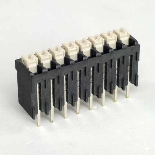 5x New WEIDMULLER SCREWLESS 8P 3.50mm Pitch TERMINAL BLOCK 12A 300V