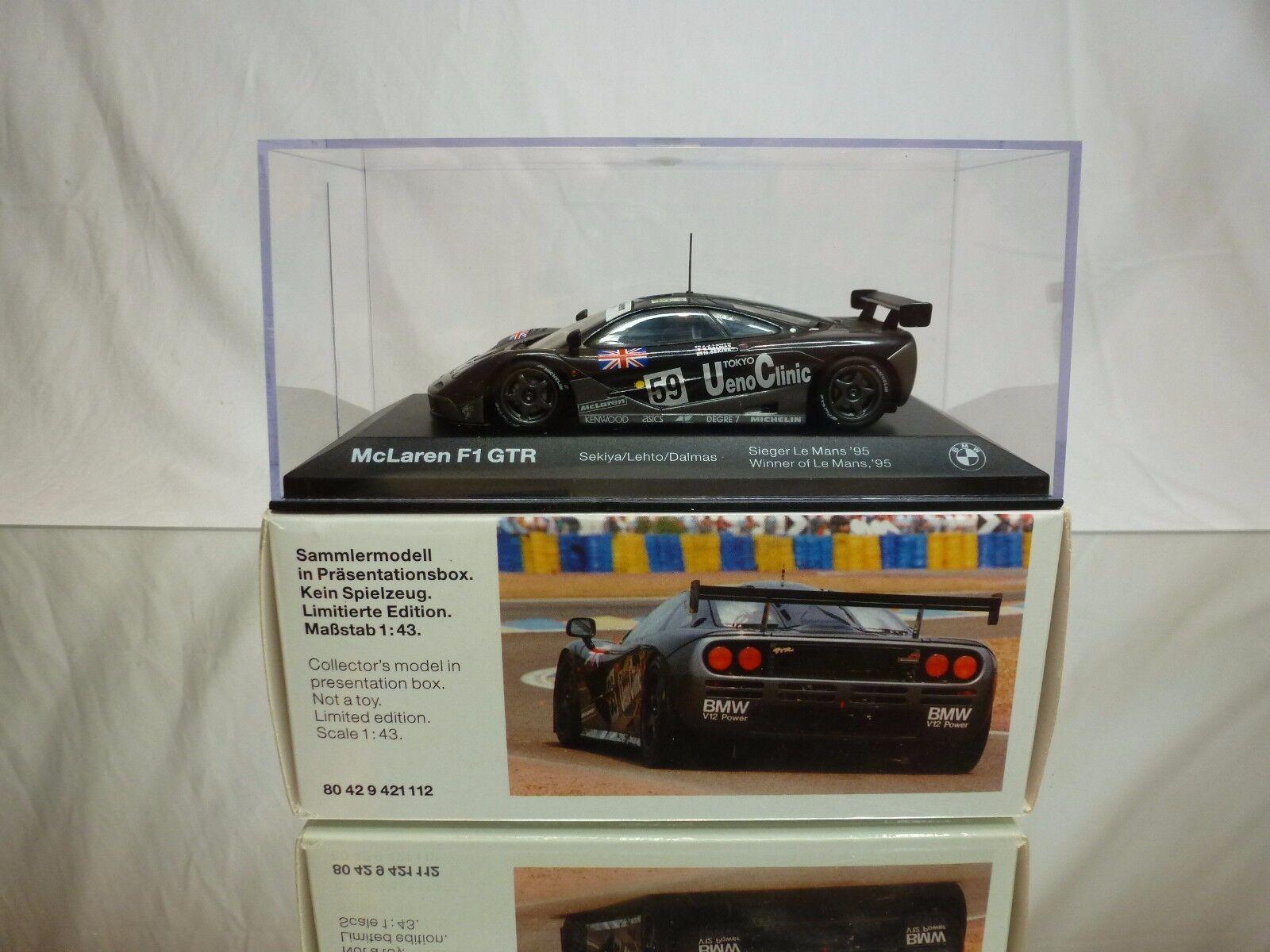 MINICHAMPS McLAREN F1 GTR - BMW POWErouge - 1st LE MANS 1995 1 43 - IN DEALER BOX