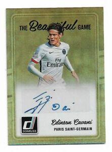 2016-17 Panini Donruss Soccer Autograph Auto Card :Edinson Cavani A10