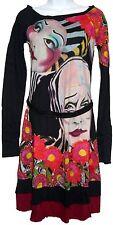 Desigual Ripelas Long Sleeved Black Cirque du Soleil Line Dress Size XS