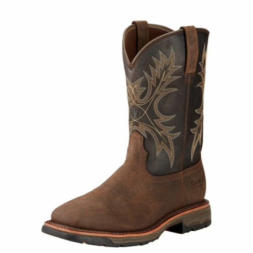 MEN/'S ARIAT WORK HOG BRUIN BROWN WATERPROOF WORK BOOTS 10017436