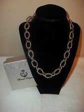 """NEW """"PREMIER DESIGNS"""" SILVER NECKLACE """"LINKED IN"""""""