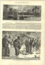 1873 Feeding Puppy Dogs  Buddhist Temple Oyama Slave Trade Village Destroyed