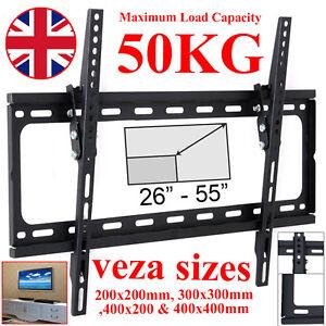 Slim-TV-Wall-Bracket-Mount-Tilt-For-26-30-32-40-46-48-50-55-inch-LCD-LED-Plasma