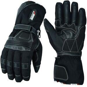 Regen-Winter-Motorradhandschuhe-Motorrad-Roller-Wasserdicht-Handschuhe-Schwarz