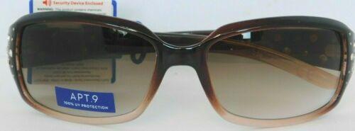 9 Hombre Brown Sunglasses with Rhinestones APT