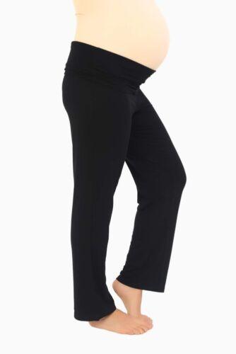 Short Petite, Regular, Long Tall Black Maternity Yoga Trouser Lounge Pants