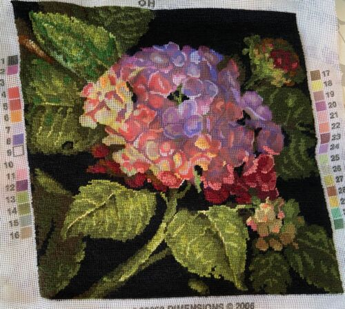 NEW Needlepoint Kit Dimensions Hydrangea Bloom Flowers Pillow #20053