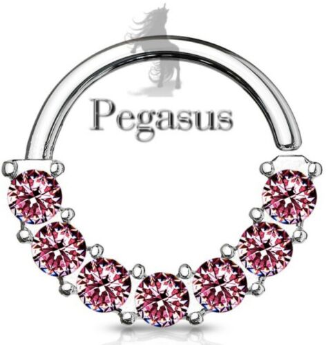 NEW Pink Beautiful Bendable Crystal Universal CBR Ring hoop