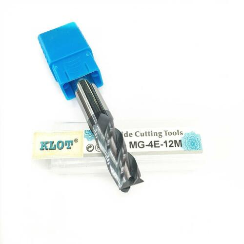 KLOT HRC50 ALTiN Coated Black Oxide Solid Carbide End Mill 9.5mm-11.5mm 4-Flute
