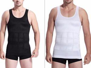 Men/'s Slim Body Shaper Belly Fatty Underwear Vest Shirt Corset Compression