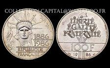 100 Francs STATUE DE LA LIBERTE. 1986. Argent