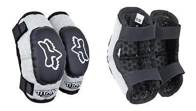 Fox Racing PEEWEE TITAN ELBOW GUARDS Protective ATV MX Black//SILVER 08038-464