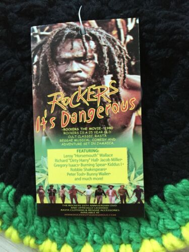Rockers Its Dangerous Movie Concept One Rasta Hat New Reggae Dread Marley