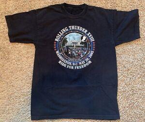 Harley Davidson Rolling Thunder XVIII Ride for Freedom Washington DC 2005 TShirt