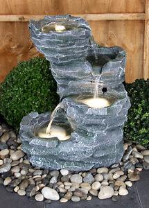 Trevell Rock Cascade Water Feature Led Lights Garden