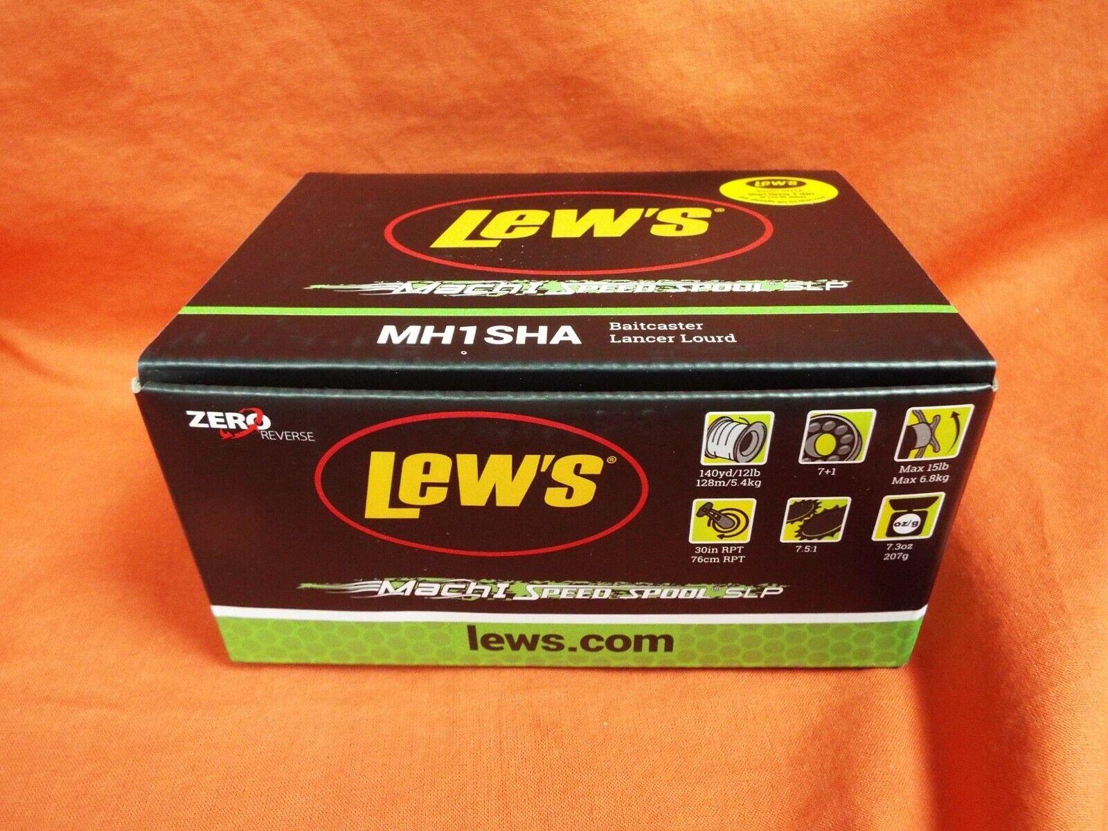 LEW'S Mach I Speed Spool SLP Baitcaster Reel Gear Ratio 7.5 1 MH1SHA