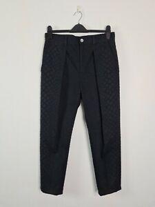 MIHARA-YASUHIRO-Designer-Pants-Women-039-s-Size-40-W32-034-Black-Textured-Ankle-JAPAN