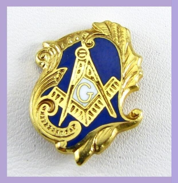 Antique Style Masonic Square & Compass Freemason High Quality Lapel Pin (hat)