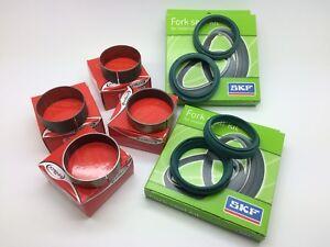 SKF-Innteck-Fork-Oil-Dust-Seals-amp-Bushes-48mm-White-Power-Rebuild-Kit-KTM