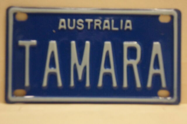 TAMARA Novelty Name Plates Mini Number Licence License Australian Door Bike Bed