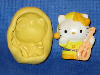 Hello Kitty Push Mold Food Safe Silicone 750 Chocolate Cake Topper Resin Soap