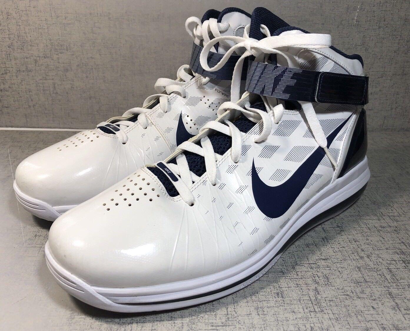 size 40 0c030 e72cb Nike zoom flywire hyperdunk bianco blu, scarpe da basket uomo uomo uomo  numero 14 94f453