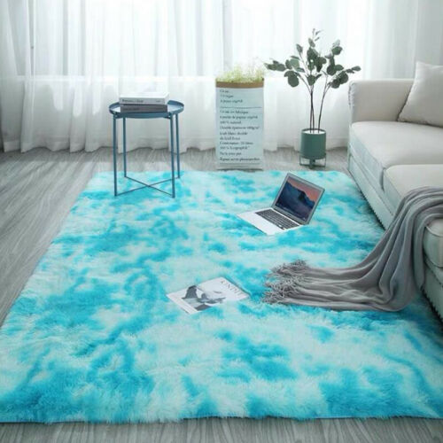 Fluffy Rugs Anti-Skid Shaggy Area Rug Bedroom Room Carpet Floor Mat Kids Playmat