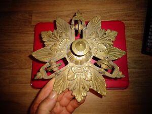 Ancien-Cache-Berliere-a-Chaine-Plafonnier-Bronze-a-Lustre-Monumental-Suspension