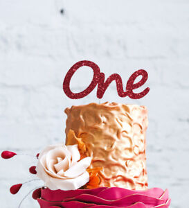 Image Is Loading Number One Large Cake Topper Glitter Dark Pink
