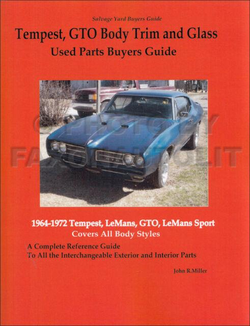 Pontiac Muscle Cars Salvage Yard Buyers Guide 1964-1972 Temptest Firebird GTO