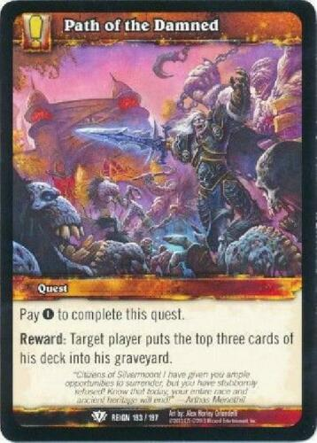 8x Path of the Damned NM WoW Reign of Fire Set 21 World of Warcraft
