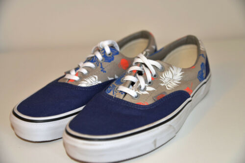 2 toile New Baskets Vans tons bleu Athletic ton Casual 5 Chaussures 6 Baskets gris Uk 4x45rI