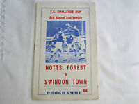 11966-67 FA CUP 5TH ROUND 2ND REPLAY NOTTINGHAM FOREST v SWINDON TOWN  (PIRATE)