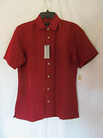 Men's Van Heusen Red Hawaiian Style Button Down Shirt Multiple Sizes