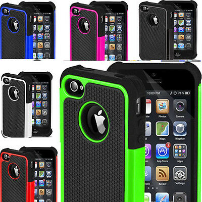 Shock Proof Dual Layer Hybrid Hard Soft Combo Silicone Case fr Apple iPhone 5S 6